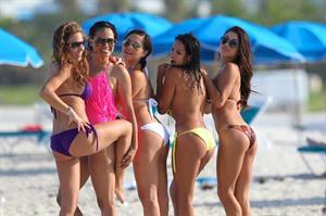 Arianny Celeste Miami Beach in a Bikini on July 3, 2012