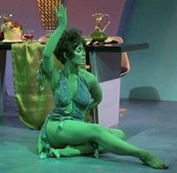 Yvonne Craig in body paint