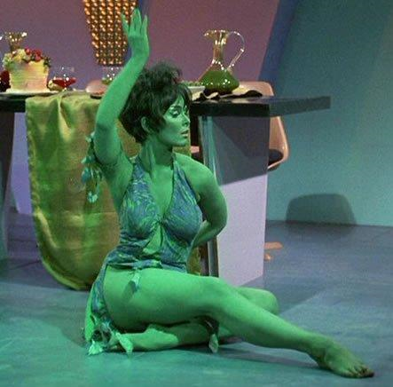 Yvonne Craig in body paint