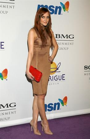 Ashlee Simpson attending Clive Davis pre-Grammy party