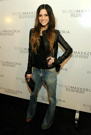 Ashlee Simpson at Max Azria Spring Collection on September 10, 2010