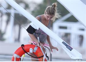 Ashley Benson bikini on a boat in Florida March 11, 2012