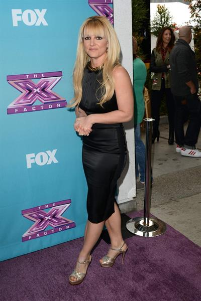 Britney Spears attends 'The Factor' Season Finale Press Conference at CBS Studios in L.A. - Dec. 17,2012
