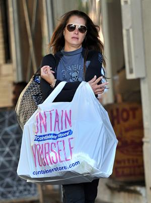 Brooke Shields shopping at The Container Store in NYC October 3, 2012