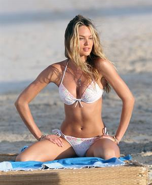 Candice Swanepoel  at a Victoria's Secret photoshoot in St. Barts 1/29/13