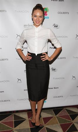 Candice Swanepoel Help by Design Fundraiser in NYC - October 9, 2012