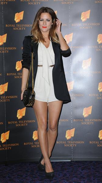 Caroline Flack RTS Awards London on March 20, 2012