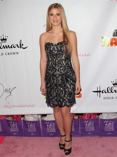 Caroline Sunshine Hallmark Gold Crown and Tet Bands celebrate Bella Thorne's Quinceanera in LA 10/20/12
