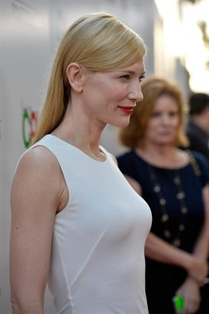 Cate Blanchett attends the Premiere of 'Blue Jasmine' at the AMPAS Samuel Goldwyn Theater July 24, 2013