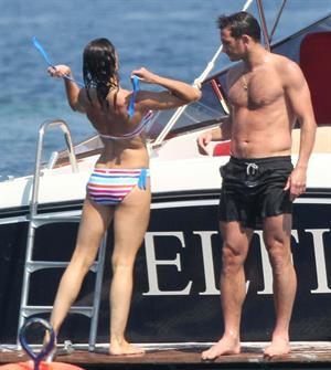 Christine Bleakley bikini boat candids July 2010