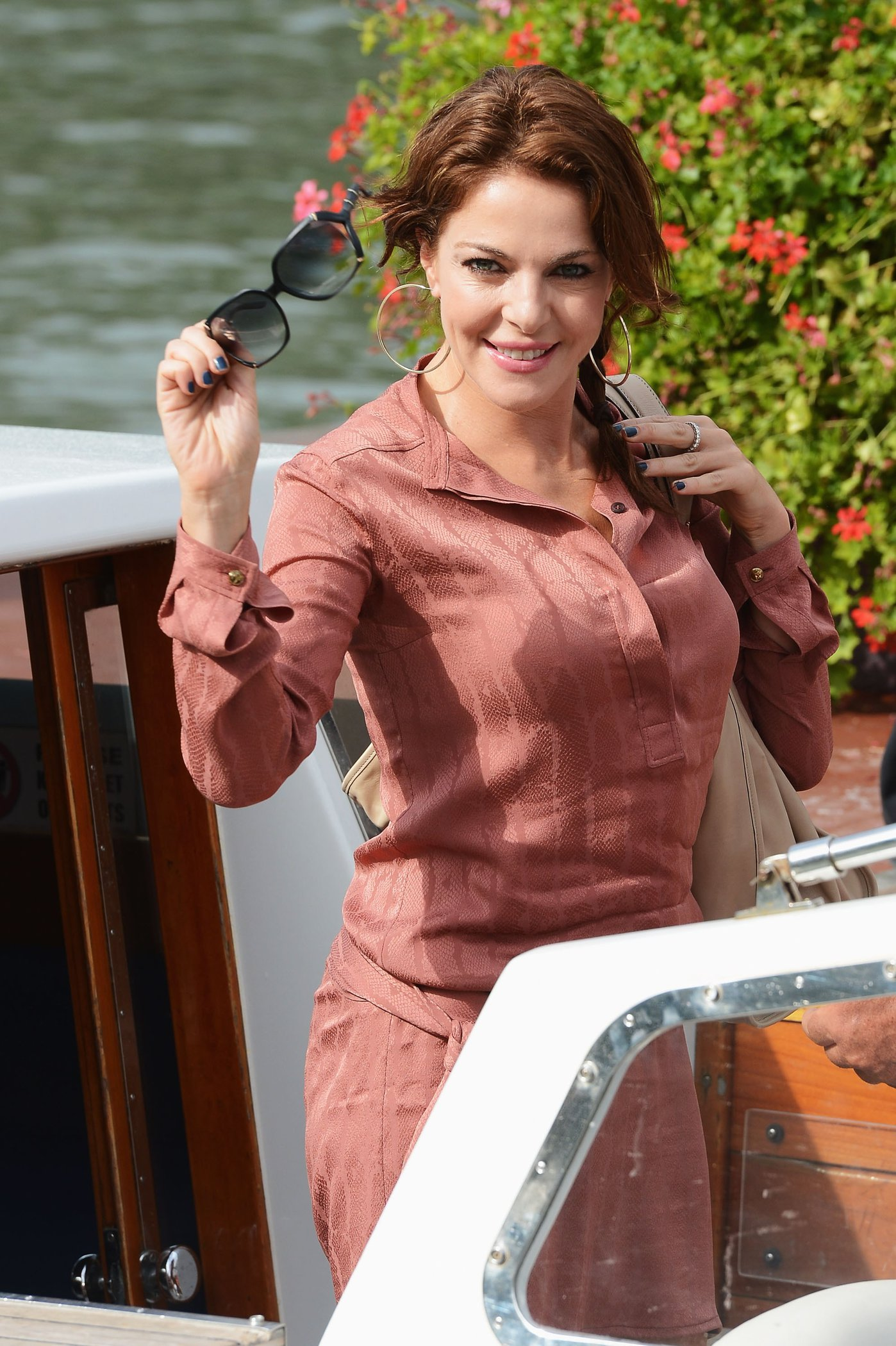 Claudia Gerini Spotted around the 69th Venice Film Festival in Venice, Italy (August 30, 2012)