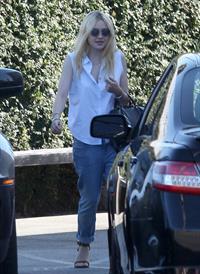 Dakota Fanning leaving Casa Vega in Studio City (24.08.2012)