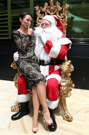 Dannii Minogue Woman In Media Christmas Luncheon Breezes Restaurant Crown Towers in Melbourne on December 6, 2012