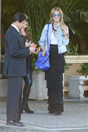Delta Goodrem arrives at the Four Seasons Hotel Jan 21, 2013