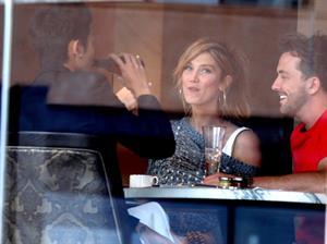 Delta Goodrem Spotted with boyfriend Darren McMullen and friends at Sydney's Park Hyatt Hotel, Sydney, Australia