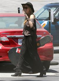 Delta Goodrem - Heads to Capital Records in Hollywood - July 6, 2012