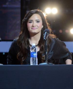 Demi Lovato The X Factor season finale news conference in LA 12/17/12