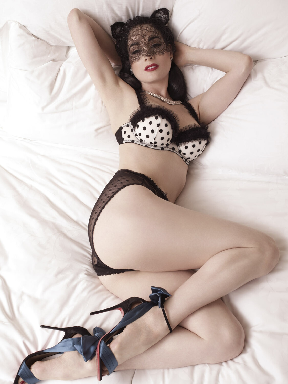 Dita Von Teese - Albert Sanchez Photoshoot for ELLE 2012 Men China