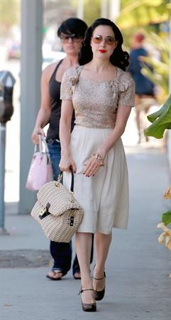 Dita Von Teese - out and about in West Hollywood (Aug. 20 2012)