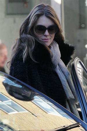 Elizabeth Hurley walking in London - November 14, 2012