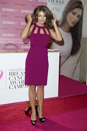 Elizabeth Hurley Estee Lauder's Breast Cancer Awareness campaign in London - Oct 8, 2012
