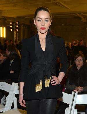 Emilia Clarke Fashion show during NYFW in New York - Feb 9, 2013