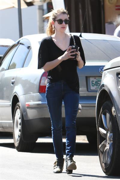 Emma Roberts walking in Hollywood 10/5/13