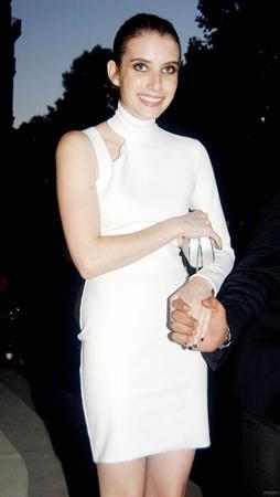 Emma Roberts - Versace Fashion Show, Paris 6/30/13