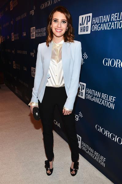 Emma Roberts - 2nd Help Haiti Home Gala 1/12/13