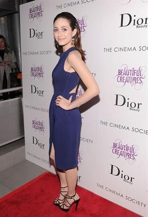 Emmy Rossum 'Beautiful Creatures' screening in New York 2/11/13