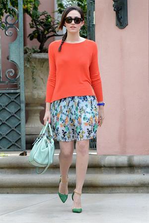 Emmy Rossum running errands in Beverly Hills 1/29/13