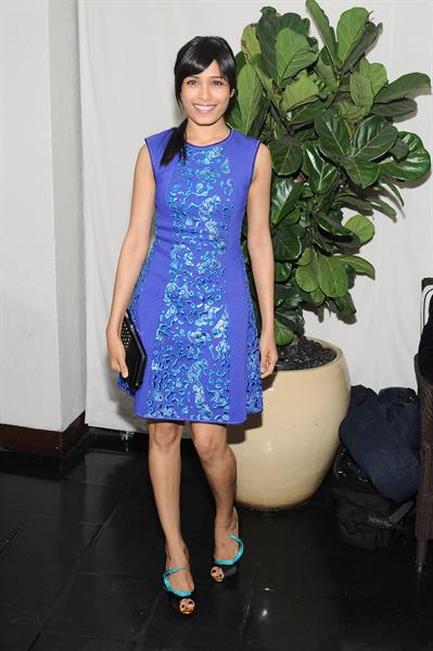 Freida Pinto W Magazine and Dom Perignon's Pre-Golden Globes Party in Los Angeles - January 12, 2013
