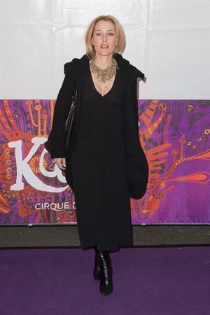 Gillian Anderson - Cirque Du Soleil's Kooza 1/8/13