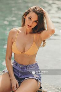 Celine Farach in a bikini