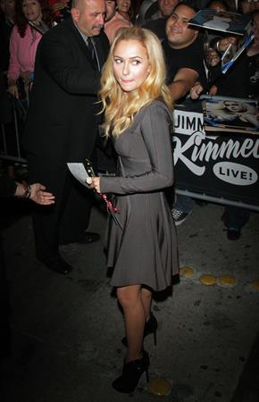 Hayden Panettiere leaving Jimmy Kimmel Live 11/7/12
