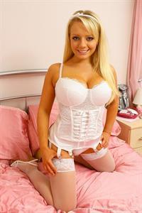 Hannah Claydon in lingerie