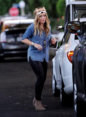 Hilary Duff - Toluca Lake in LA 10/31/13