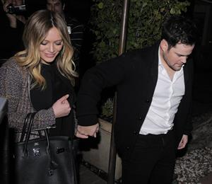 Hilary Duff - Night out in Los Angeles on January 26, 2013