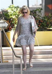 January Jones running errands on Melrose on June 14, 2011