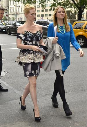 January Jones LA Revolution Bleue screening in New York City on May 5, 2012