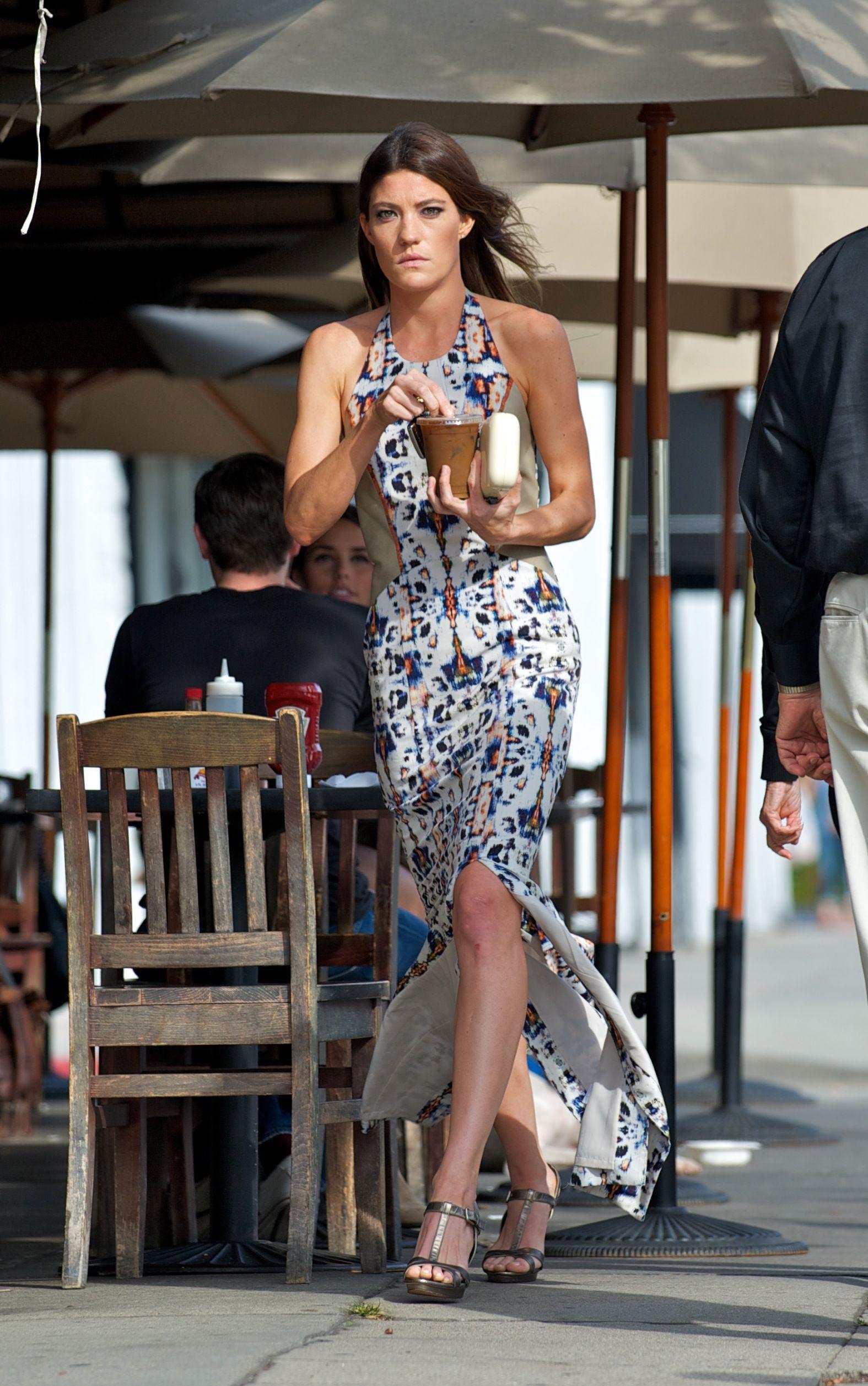 Jennifer Carpenter picks up an iced coffee King's Road Cafe in LA October 6, 2012
