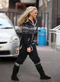 Jennifer Ellison ITV studios in London on January 4, 2011