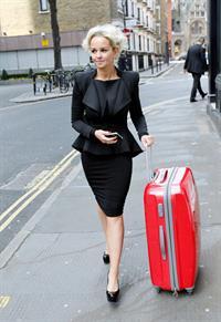 Jennifer Ellison walking through Covent Garden on March 21, 2012