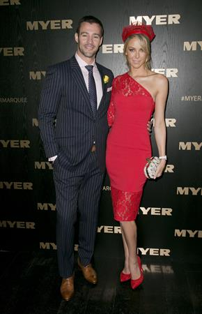 Jennifer Hawkins Myer Marquee at the Melbourne Cup, November 5, 2013