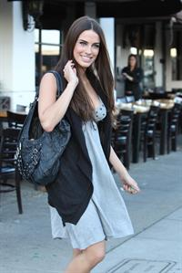 Jessica Lowndes leaving Toast restaurant November 9 2010