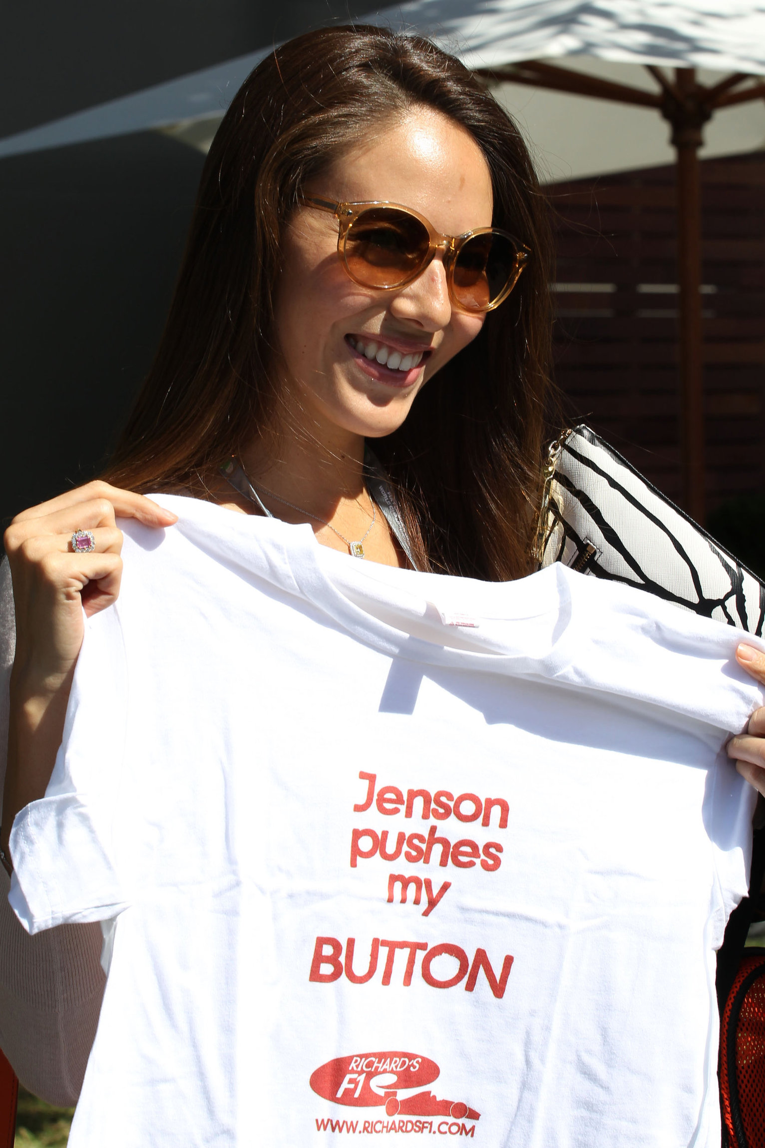 Jessica Michibata attends Formula 1 Australian Grand Prix in Melbourne (March 16-18, 2012)