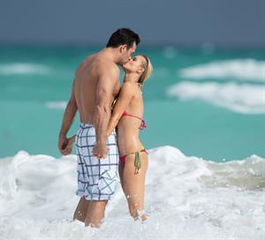 Joanna Krupa / bikini candids in Miami Beach 12/17/12