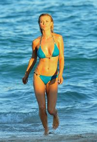 Joanna Krupa bikini candids on the beach in Miami 11/3/12