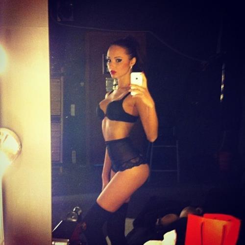 Julia Adasheva in lingerie