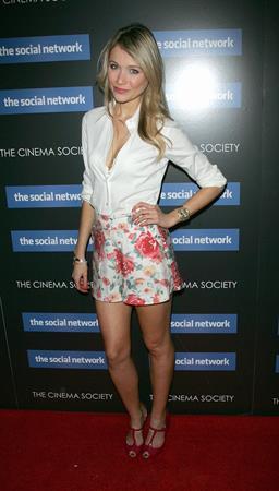 Katrina Bowden the Social Network New York Screening on September 29, 2010